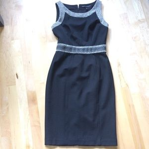 White House Black Market Black Dress Sz 0 NWOT